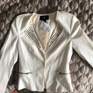White jacket with studs